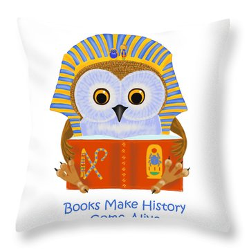Books Make History Come Alive Throw Pillow