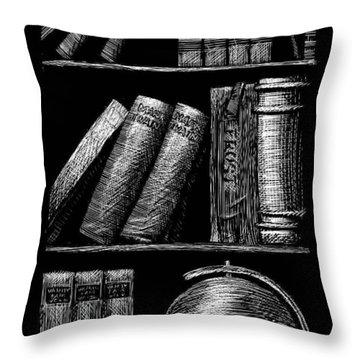 Books On Shelves Throw Pillow