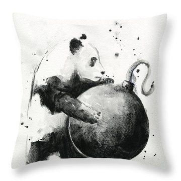 Boom Panda Throw Pillow