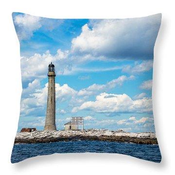 Boon Island Light Station Throw Pillow