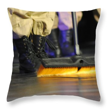 Boots And Brooms Throw Pillow