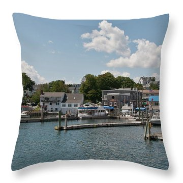 Boothbay Harbor 1242 Throw Pillow