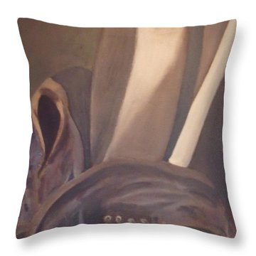 Boots Throw Pillow by Jessica Sanders