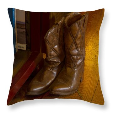 Boots Not Made For Walking Throw Pillow by Jean Noren