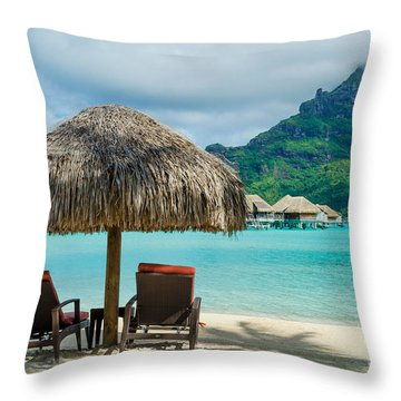 Bora Bora Beach Throw Pillow