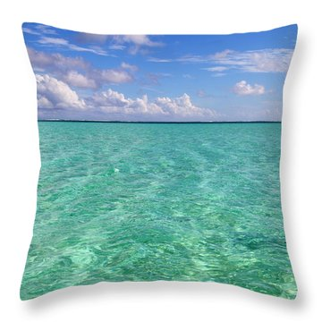 Bora Bora Green Water II Throw Pillow