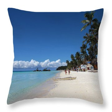 Boracay Beach Throw Pillow