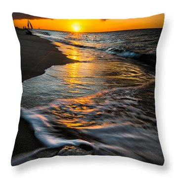Boracay Sunset Throw Pillow by Adrian Evans