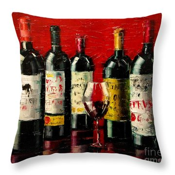 Bordeaux Collection Throw Pillow