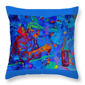 Throw Pillow featuring the painting Bordeaux by Nancy Jolley