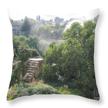 Bordeaux Village Cloud Of Smoke  Throw Pillow