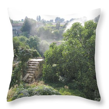 Bordeaux Village Cloud Of Smoke  Throw Pillow