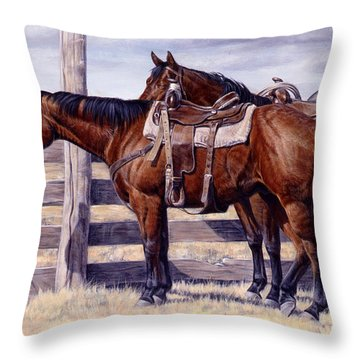 Bored Throw Pillow by JQ Licensing