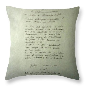 Borges Credits Throw Pillow