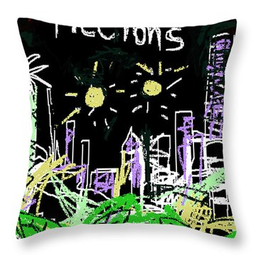 Borges Fictions Poster  Throw Pillow