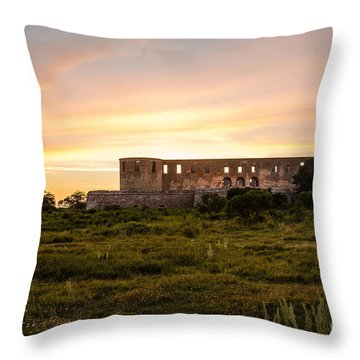 Borgholm Castle In Sweden Throw Pillow