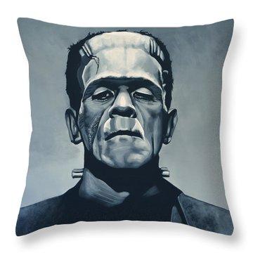 Boris Karloff As Frankenstein  Throw Pillow