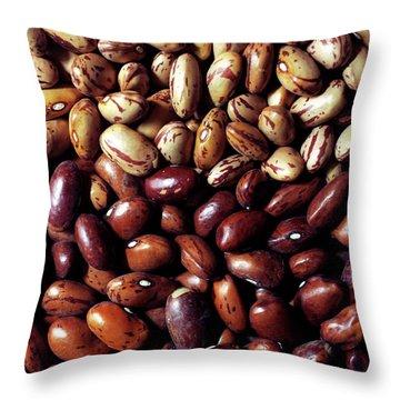 Borlotti Beans Throw Pillow