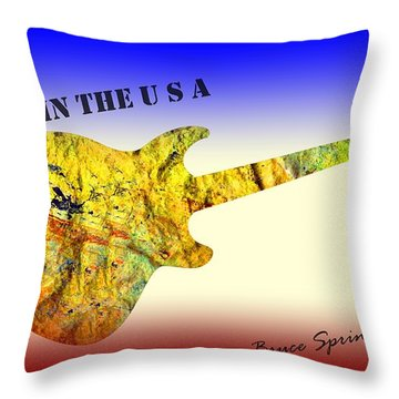 Born In The U S A Bruce Springsteen Throw Pillow