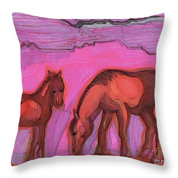 Born On The Mesa By Jrr Throw Pillow