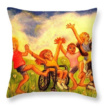 Born To Be Free Throw Pillow by Hazel Holland