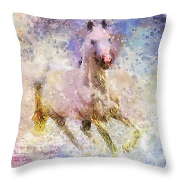 Born To Be Wild Throw Pillow by Mo T