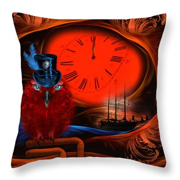 Born To Travel In Time - Fantasy Art By Rgiada  Throw Pillow