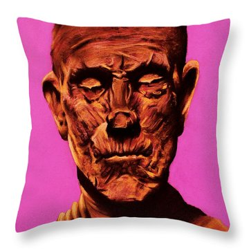 Borris 'the Mummy' Karloff Throw Pillow