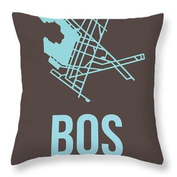 Bos Boston Airport Poster 2 Throw Pillow