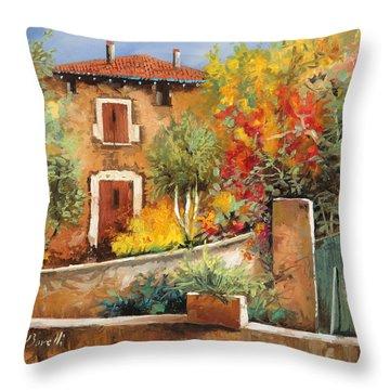 Bosco Giallo Throw Pillow