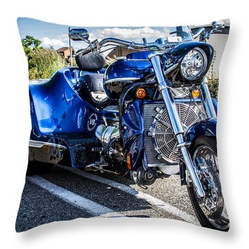 Throw Pillow featuring the photograph Boss Hoss Trike by Eleanor Abramson