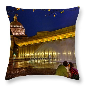 Boston 254 Throw Pillow