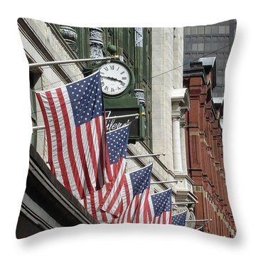 Boston 4th Of July Throw Pillow