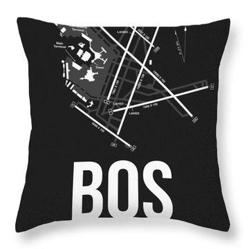 Boston Airport Poster 1 Throw Pillow