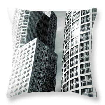 Boston Architecture Throw Pillow by Fred Larson