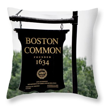 Boston Common Ma Throw Pillow