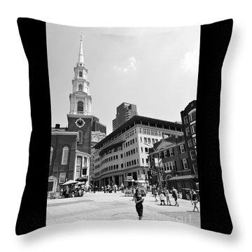 Boston Common Scene Throw Pillow