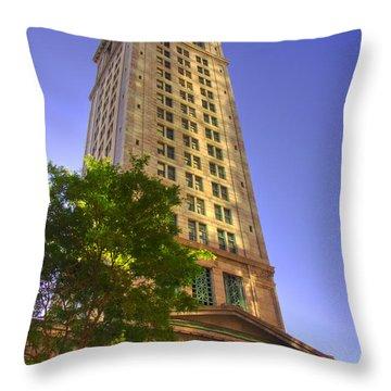 Boston Custom House 3 Throw Pillow by Joann Vitali