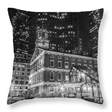 Boston Faneuil Hall  Throw Pillow