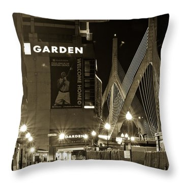 Boston Garder And Side Street Throw Pillow