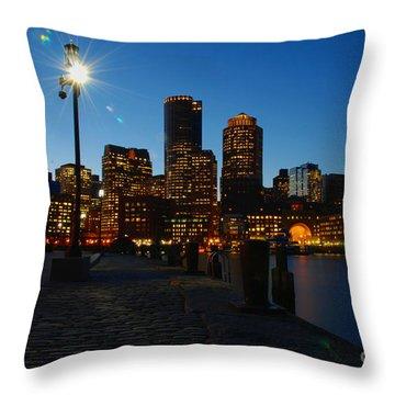 Boston Harbour Throw Pillow