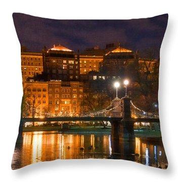 Boston Lagoon Bridge 2 Throw Pillow by Joann Vitali