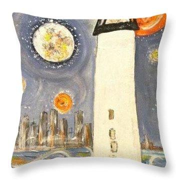 Boston Light Throw Pillow
