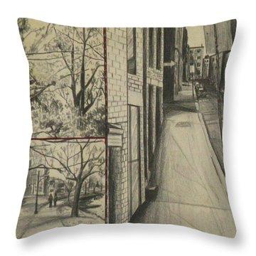 Boston Memories Throw Pillow