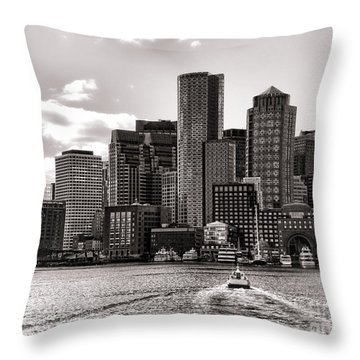 Throw Pillow featuring the photograph Boston by Olivier Le Queinec