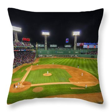 Boston Red Sox And New York Yankees At Fenway Park - Art Throw Pillow