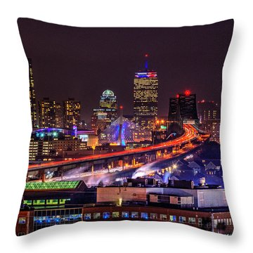 Boston Skyline 150 Throw Pillow