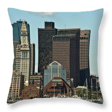 Throw Pillow featuring the photograph Boston Skyline by Caroline Stella