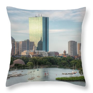 Boston Skyline I Throw Pillow