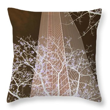 Boston Skyscraper Throw Pillow
